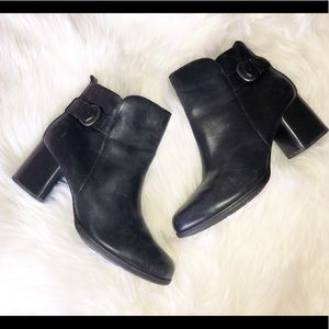 BORN Leather Ankle Booties